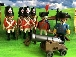 Playmobil Play People Vintage British Redcoats, Pirate, Accessories x7 Figures