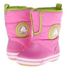 Crocs Crocslights Gust Boot Party Pink/Volt Green Size C10