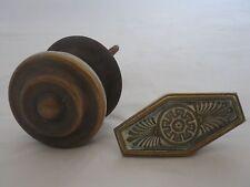 Ancienne poignée de porte bronze et laiton Art déco  vintage door handle