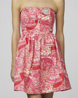 $258 Lilly Pulitzer Sari Getting Hot In Here Strapless Metallic Dress 10
