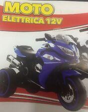 IDEA REGALO MOTO MOTOCICLETTA ELETTRICA DA CORSA SIMILE VALENTINO BLU CON LED