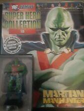 Eaglemoss #18 Martian Manhunter Dc Comics Super Hero Collection figurine & Book