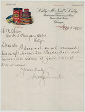 RARE - COLOR Litho Letterhead Libby McNeil Canned Goods 1901 Buffalo NY Billhead