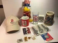 Olympics Collectibles Lot Of 15 Cards  Hat Sports History Pins Beijing USA Stein