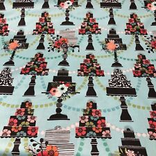 Piece of Cake 100% Cotton Fabric by the yard - Layer Cake fabrics on cake stands