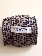 Joop paris men's tie silk blue grey brown