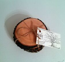 "SET OF FOUR ""TREE TRUNK"" RUSTIC DOGWOOD DRINK COASTERS! !! LOG CABIN DECOR!"