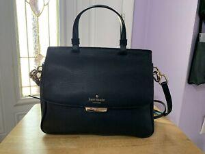 Kate Spade New York Women's Rea Robinson Lane Leather Satchel Bag Purse - Black