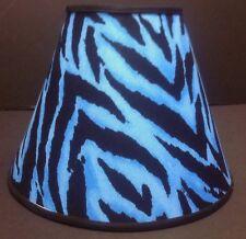 Blue Zebra Print Handmade Lampshade Lamp Shade