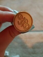 NEW Wooden Handle Head Brass Seal Wax M Stamp For Wedding Invitation Letter