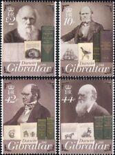 Gibraltar 2009 Darwin/Nature/Science/People/Birds/Books/Ship 4v set (s662y)