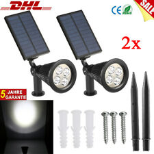 LED Solar Spotlight 22x15cm schwarz  incl Akku Solar Strahler Spot Gartenlampe