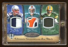 2008 UD 6X PATCH LOGO #D 4/5 AARON RODGERS-TOM BRADY-MATT RYAN RC-ELI MANNING ++