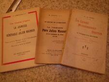 1921.Lot 3 livres sur Père Julien Maunoir.Le Berre.Questel.Hérouville