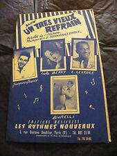 Spartito Un molto vieux coro Birba Berry Leardee Burelli Mon amour darling 1959