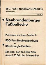 DDR-Liga 84/85 BSG Post Neubrandenburg - BSG Energie Cottbus, 10.03.1985