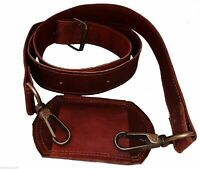 Vintage Leather Replacement Shoulder Strap For Briefcase Luggage Messenger Bag