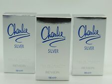 CHARLIE SILVER by Revlon Perfume 3.4 oz edt New in Box (Pack of 3)