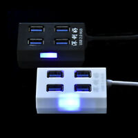 4-Port USB 2.0 Multi HUB Splitter Expansion Adapter High Speed For PC Laptop