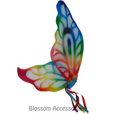 AS182 Adult Rainbow Fairy Angel Butterfly Wings Pixie Hens Costume Accessory