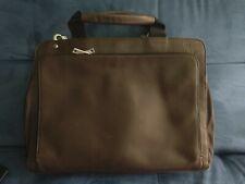 Jack Spade Brown Pebbled Leather Briefcase/Laptop Bag
