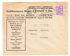 Belgium Sc#269(single frank)-KORTRIJK 2/VII/1949-ILLUSTRATED MOTORCYCLE