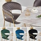 Grey Velvet Dining Chairs with Gold Legs Modern Dining Chair with Diamond Stitch