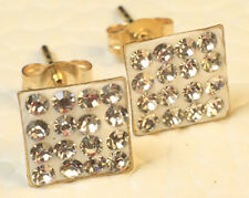 9K 9CT SOLID YELLOW GOLD DIAMOND DRESS EARRINGS