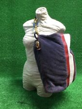 Juicy Couture Navy Blue Red White Striped Tote Purse Handbag Bag Leather Terry