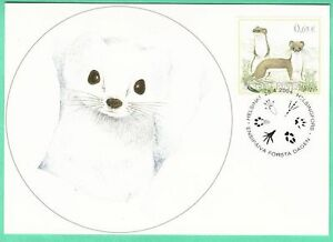 Ermine Stoat Endangered Weasel Lapland Wildlife Finland Mint Maxi FDC 2004
