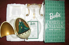 Empress of Emeralds Barbie 2000 Resin Egg Music Box Royal Jewel Collection