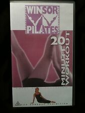 WINSOR PILATES ~ 20 MINUTE WORKOUT ~ AS NEW VHS VIDEO ~ FREE POST