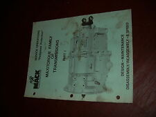 MACK MAXITORQUE TRANSMISSION SERVICE MANUAL SEMI TRUCK