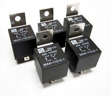 (5) 12V 12 Volt 40A Automotive Relays 40 Amp Metal Mounting Tab SPDT