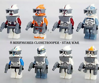 8 Pcs Minifigures Space Awakens Clone Trooper Commander Fox Rex Lego MOC Toys