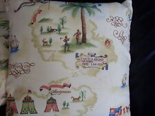 """Aladin' Travels 100% Cotton Fabric Pillow Cushion Cover 16"""" x 16"""" #3"""