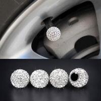 4pcs Auto Car Rhinestone Tire Valve Caps Diamond Shining Air Caps Accessories