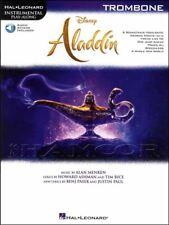 Disney Aladdin Instrumental Play-Along Trombone Music Book/Audio Soundtrack Film