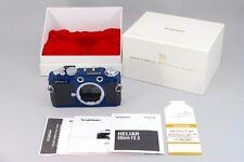 Voigtlander Bessa T 35mm Rangefinder Film Camera 101 Years Blue w/Box Japan 182