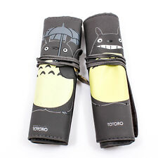 Creative Totoro Pencil Pen Case Roll Pouch Pocket Brush Holder Makeup Bag A1822