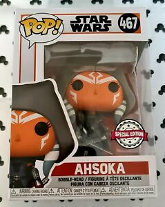 Funko Pop Star Wars 467 Ahsoka Hooded Vinyl Figure The Mandalorian / Movie
