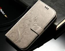 Samsung Galaxy S6 butterfly embossed print leather wallets in 5 colours Uk shop