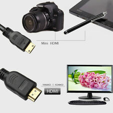15FT Gold Plated Mini HDMI to HDMI M/M cable for Ethernet HDTV DV DC 1080P 3D