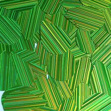 Lime Green City Lights Sequins Teardrop 1.5 inch Reflective Couture Paillettes