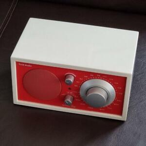 Tivoli Audio Model One Henry Kloss AM FM Radio Tischradio Blickfang Weiß Rot