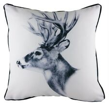 17 inch Piped Reindeer Stag Christmas Xmas Pre Filled Cushion