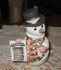 A Star Is Born~Precious Moments~Porcelain Bisque Snowman Ornament~121026~