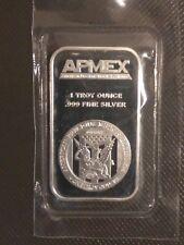 Apmex 1 oz Silver Bar .999 Fine Silver New Sealed in Plastic Troy Ounce 1oz  00004000