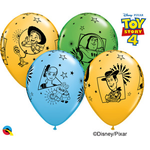 """Qualatex Toy Story 4  - 12"""" Latex Balloons Pack of 6"""