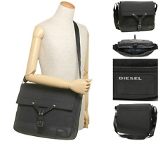 DIESEL Messenger Bag Mens M-WHYBE Black Flap Shoulder Despatch Bags BNWT R£120